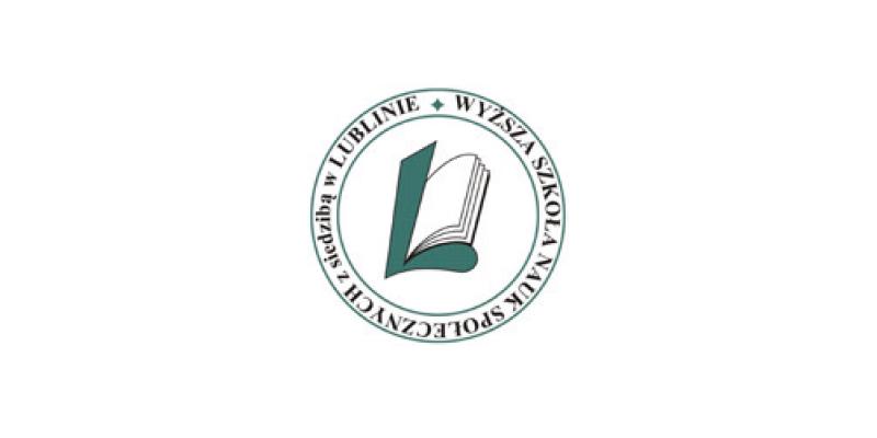 Logo uczelni Wyższa Szkoła Nauk Społecznych z siedzibą w Lublinie